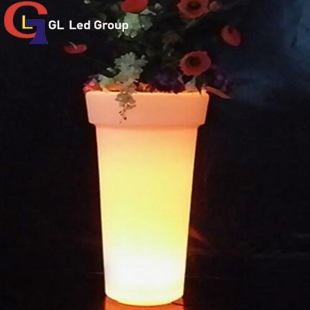 Led tall flower pot