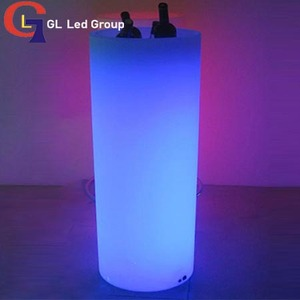 Led tall round container