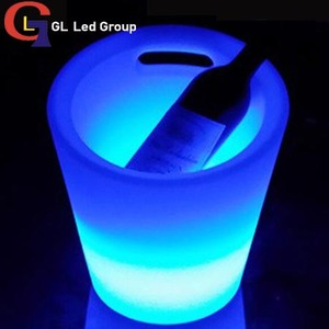 Led ice bucket with handle