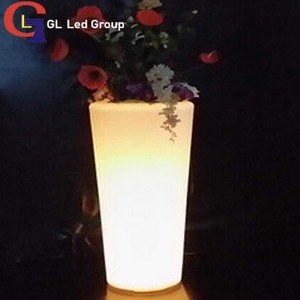 Led flower pot for garden