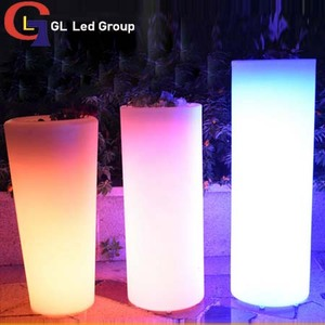 led round stand flower pot
