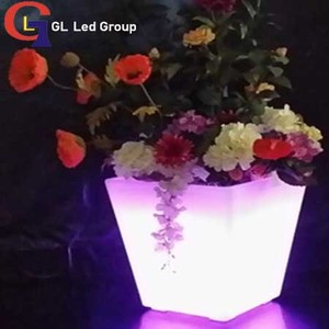 Led flower pot for event