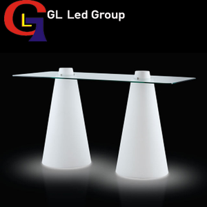 Led table furniture for events