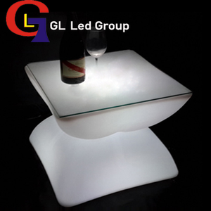 led glowing coffee table