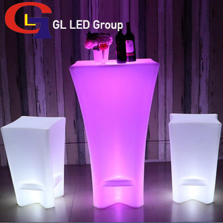 Led table for lounge furniture rentals