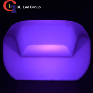 Led glowing sofa