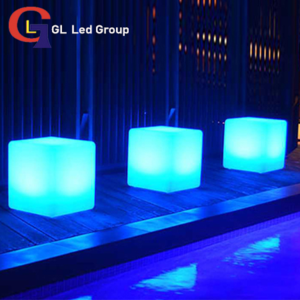 RGB led cube battery table lamp