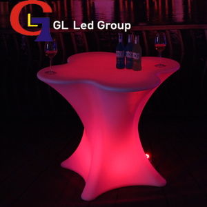 Led flower table for bar